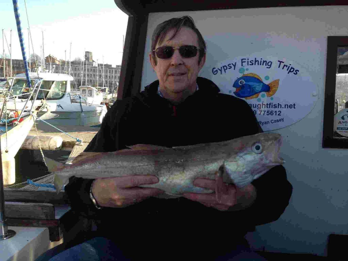 CATCH OF THE DAY: Matt Honey with his prize whiting
