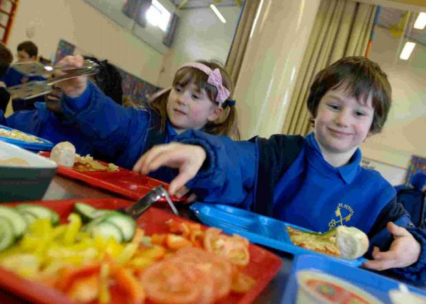 GROWING CONCERNS:  Worries over funding for free school meals. Inset, Toni Coombs.