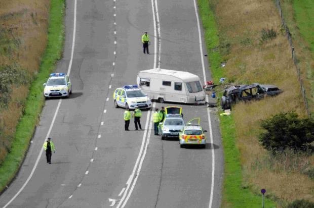 Dorset Echo: CRASH HORROR: The scene of the fatal accident near Askerswell