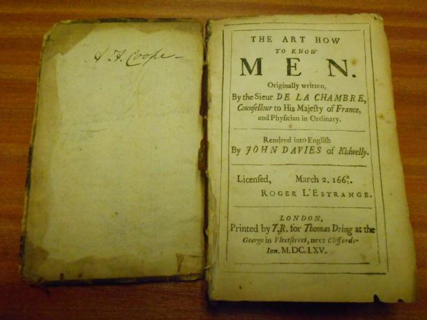 Men are from Mars, Women are from Venus - a 17th century version
