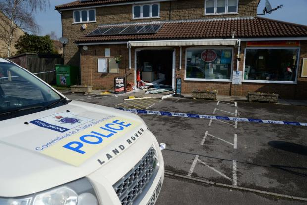 Ram raid at West Dorset post office