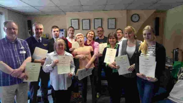 QUALIFIED: Dorchester businesses get their first aid certificates