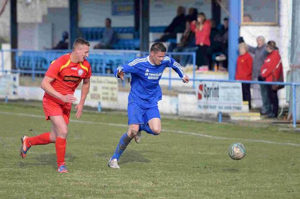 Dorset Echo: TWO GOALS: Jamie Beasley scored twice at Swanage
