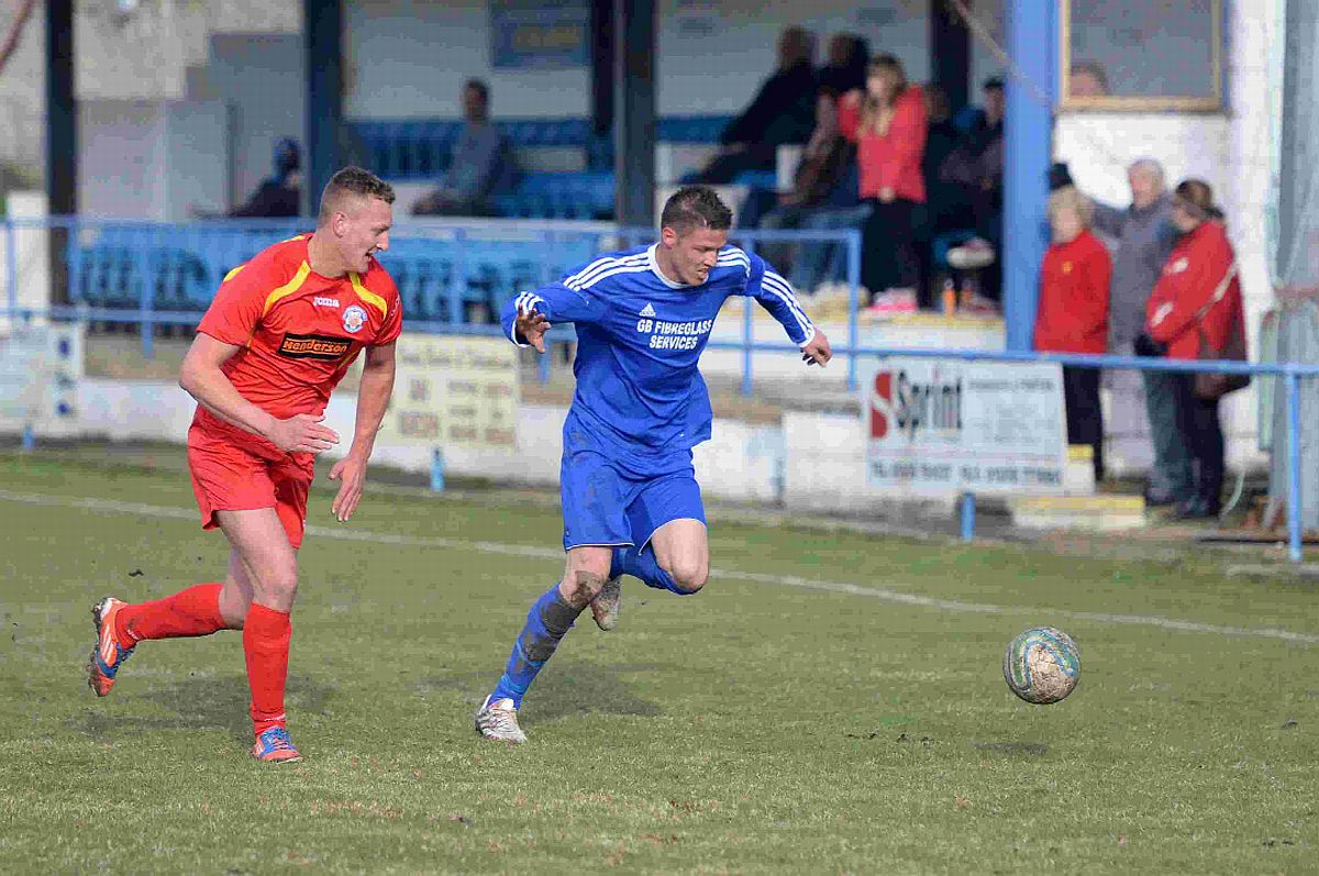 TWO GOALS: Jamie Beasley scored twice at Swanage