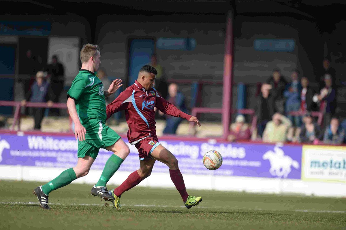 RED-HOT: Isaac Vassell's screamer earned a point for the Terras
