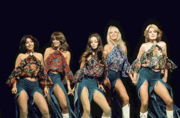 PRIME MOVERS: Pan's People in their heyday on Top of the Pops with Dee Dee Wilde second from the left and Babs Powell, second from right