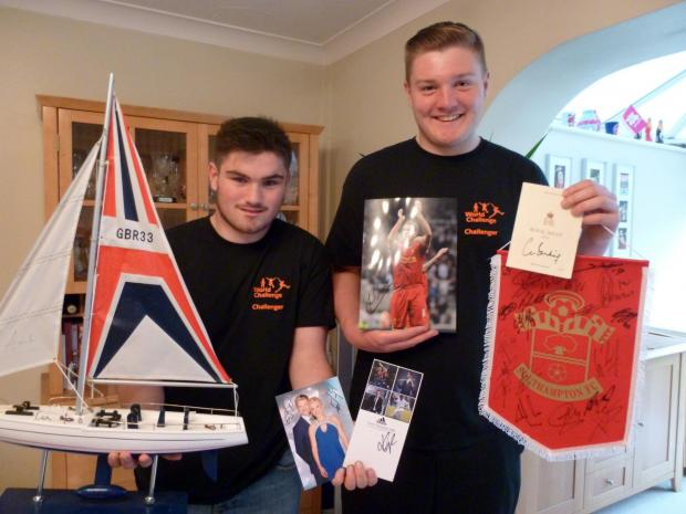 Ben and Jonathan with some of the memorabilia