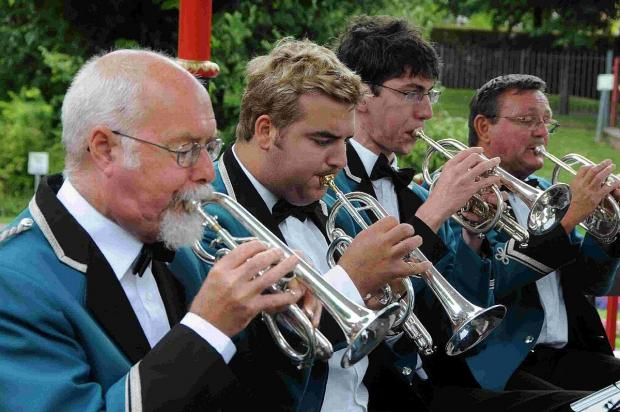 BRIGHT FUTURE: Weymouth Concert Brass performing at the Bandstand at Dorchester Borough Gardens