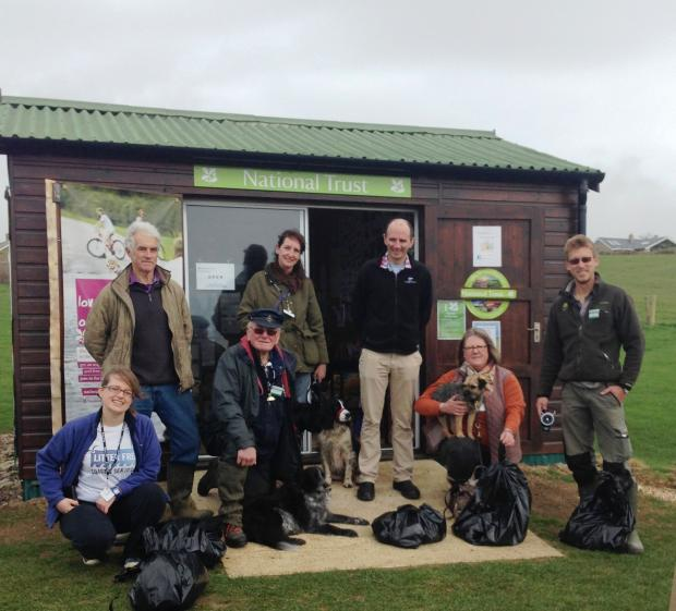 Walkers tackle dog mess in West Dorset