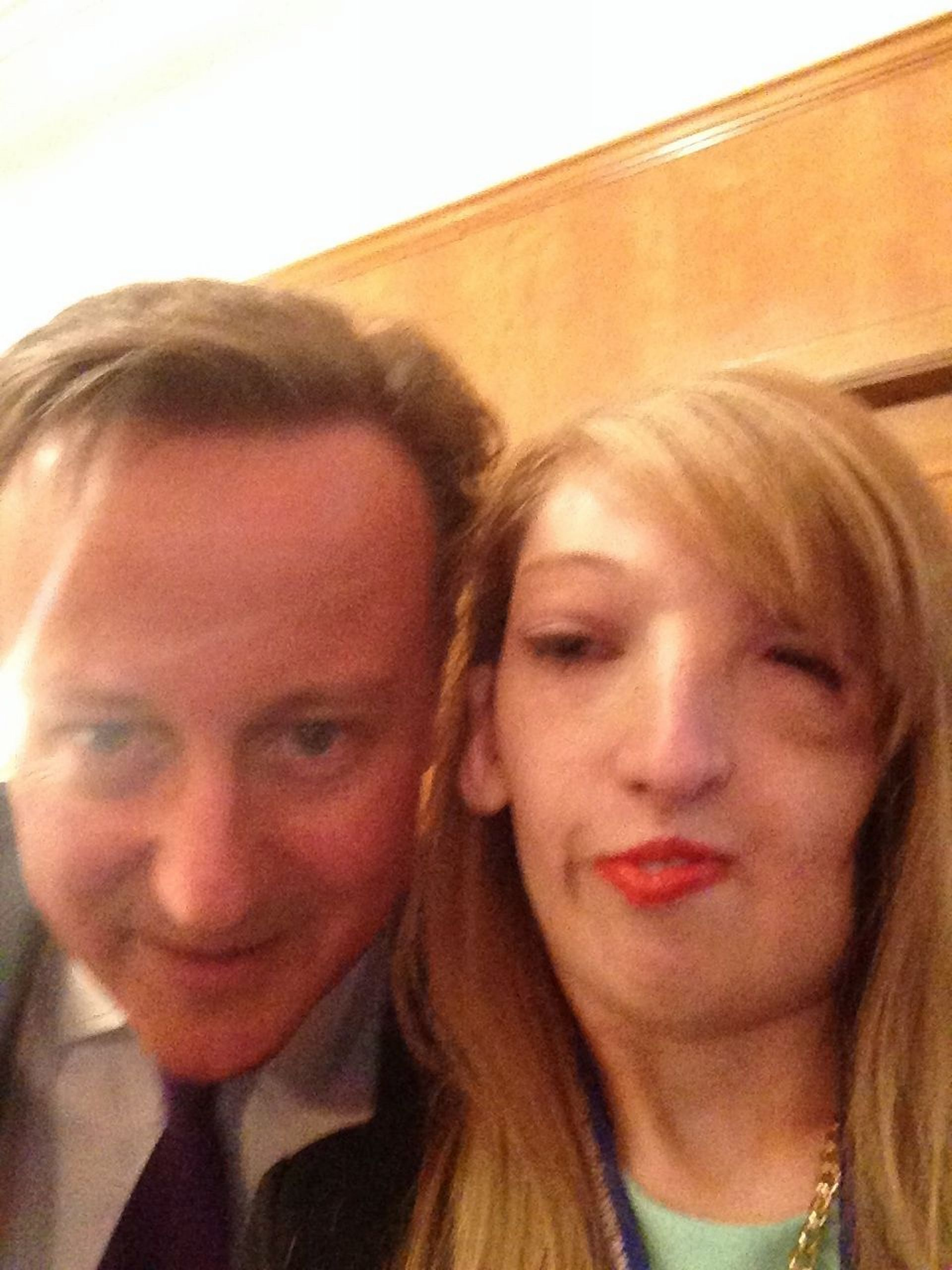 Weymouth woman bags 'selfie' with PM David Cameron