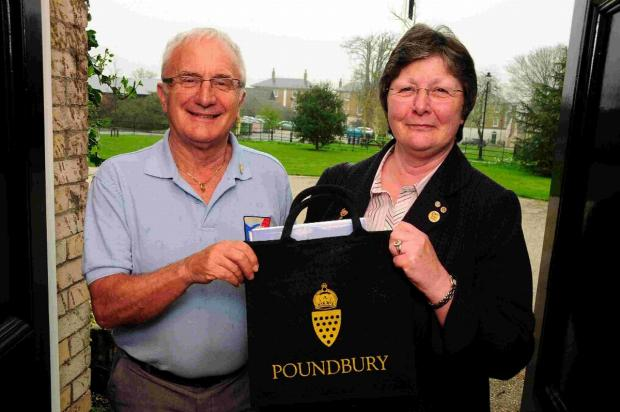 Rotary district governor Brian Kirkup and President of Rotary Britain and Ireland Nan McCreadie visit Duchy of Cornwall offices, Poundbury