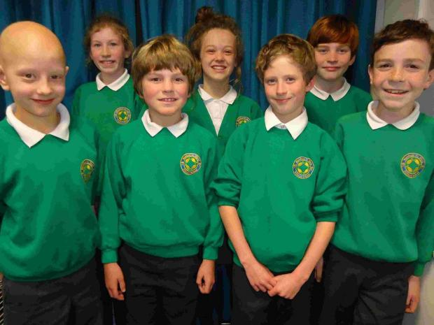 WAREHAM WINNERS: Wareham St Mary Primary School cross country team. Back row: Isabelle Hunt, Sadie Ashton, George Moore. Front: Alexander Lally, Arben Fielding, Angus Watt, Callum McDermott