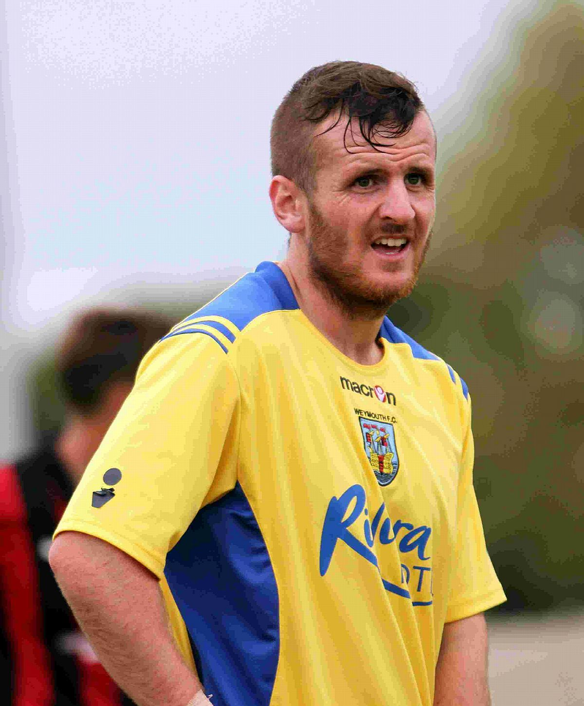 FIRED TERRAS AHEAD: Striker Stewart Yetton