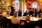 Andrew Wadsworth addresses the business breakfast