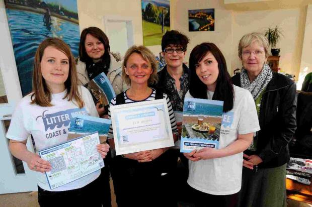 Dorset Echo: KEEP IT CLEAN: The Litter Free Coast meeting at B&B Weymouth
