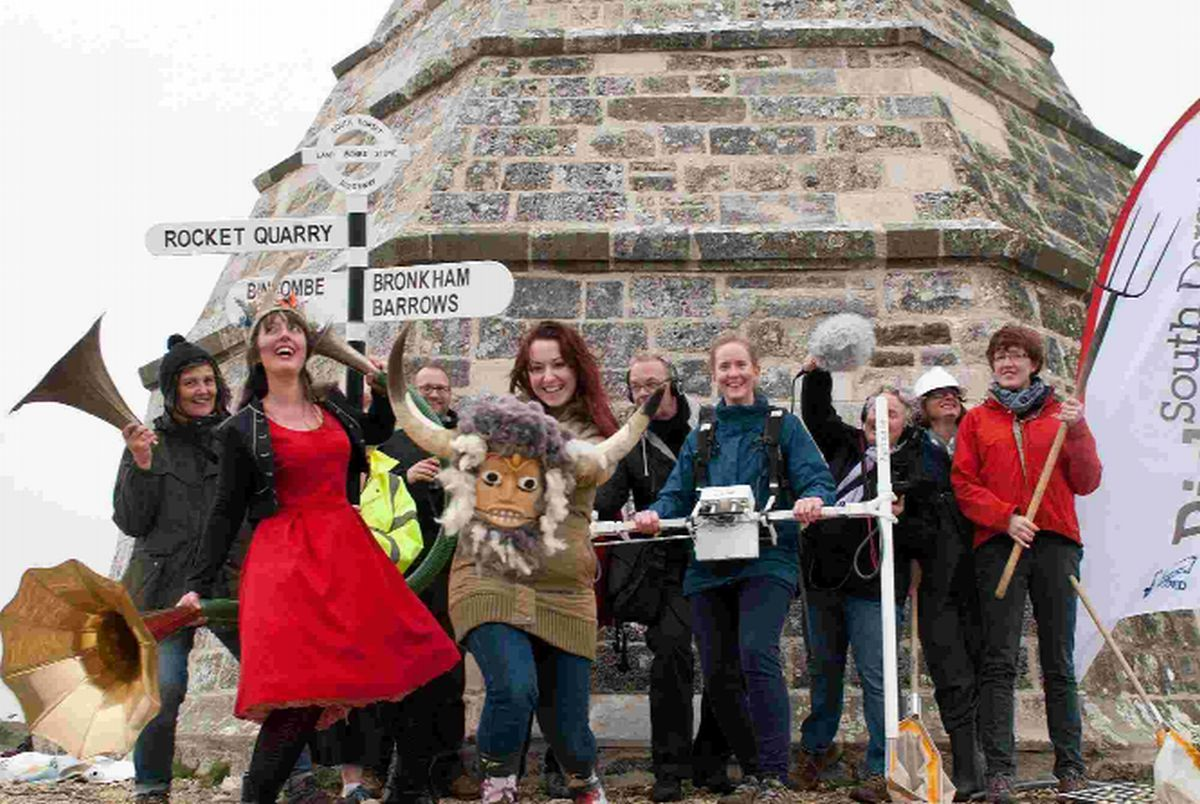 HARDY WALKERS: Members of the South Dorset Ridgeway Partnership at the Hardy Monument
