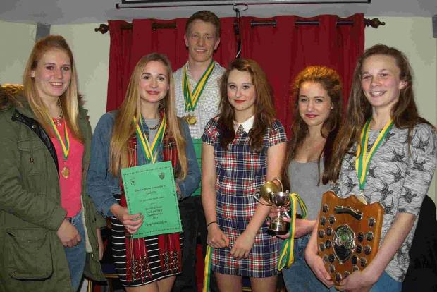 ACE ATHLETES: Sir John Colfox pupils, left to right: Martha Baker, Lucie Fry, Ryan Smith, Eva Bowring, Grace Butt and Imogen Slade
