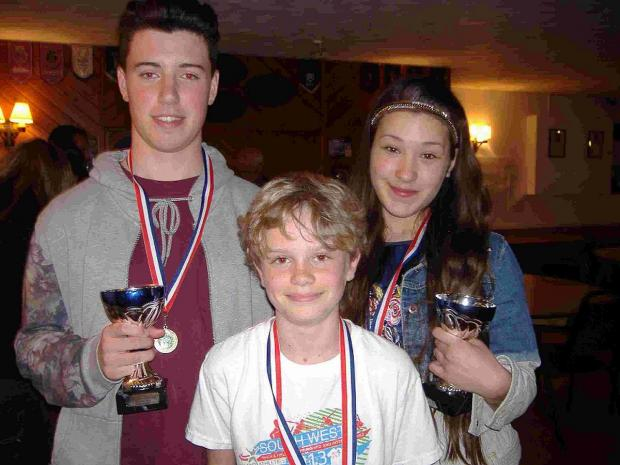 Dorset Echo: TOP TRIO: James Tufnail, Ryan Purse and Hannah Westhenry
