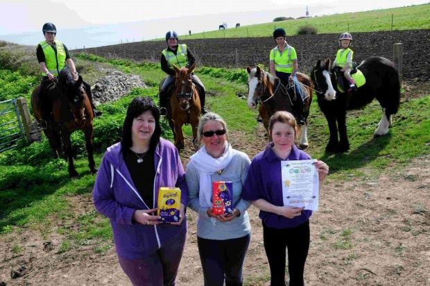 SADDLE UP: Isle of Portland Riding Club Easter Egg hunt organisers and riders