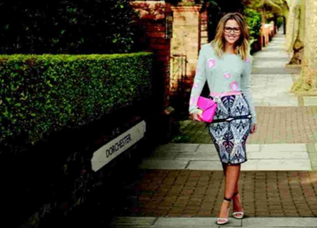 Kimberley Walsh shows how to look good in glasses on the streets of our county town