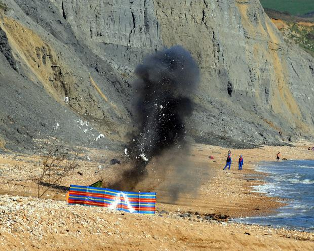 Dorset Echo: BANG: The grenade is detonated