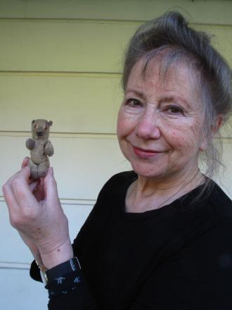 museum curator Jackie Ridley with 'Wee One'