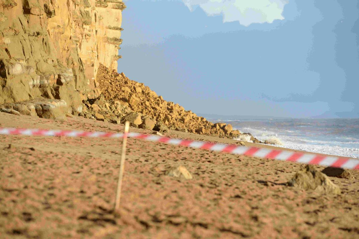 WARNING: Tourists urged to take care on seafront and cliff areas