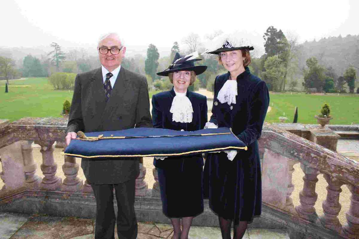 NEW ROLE: Former High Sheriff Jeremy Pope, current High Sheriff Jane Stichbury and former High Sheriff Catriona Payne at the High Sheriff's Declaration