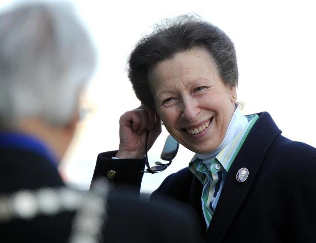 PORTLAND VISIT: Princess Anne at the sailing academy