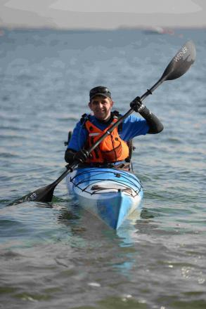 PREPARED: Simon Avery in his kayak