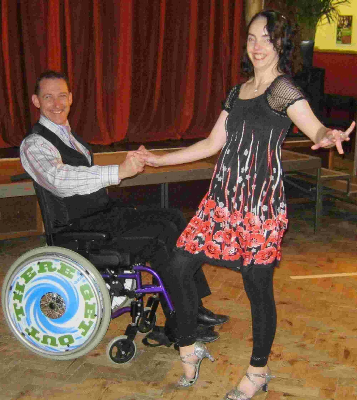 Glenn Bayliss and Angie Golding of Wheel Keep Dancing