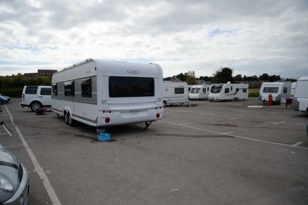 Dorset Echo: Travellers pitch up in Weymouth car park