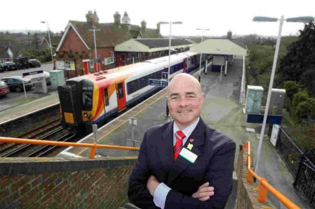 PLANS: Swanage Railway project manager Frank Roberts at Wareham station