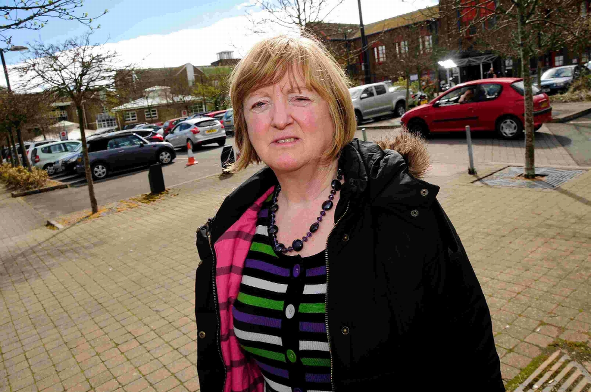 'STRESSFUL': Dorchester town councillor Susie Hosford at Dorset County Hospital car park