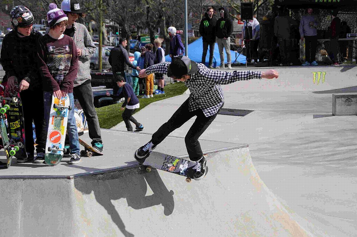 SKY'S THE LIMIT: Skateboarder at last year's Skate Jam in Dorchester