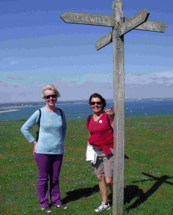 STEPPING OUT: Walkers take part in the Walk4Water on Ballard Down