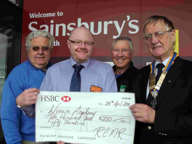 Ian Spofforth, Sainsbury's manager Steve Jones, Ian Brooke and RCMR President Richard Cropper