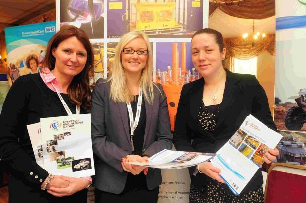 Dorset Echo: GOOD prospects: Universal Engineering stand at last year's job fair