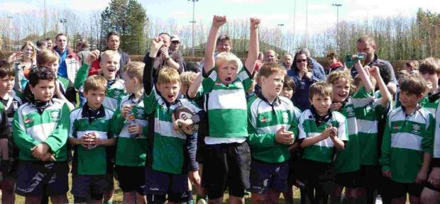 PARTY TIME: Dorchester Under-10s