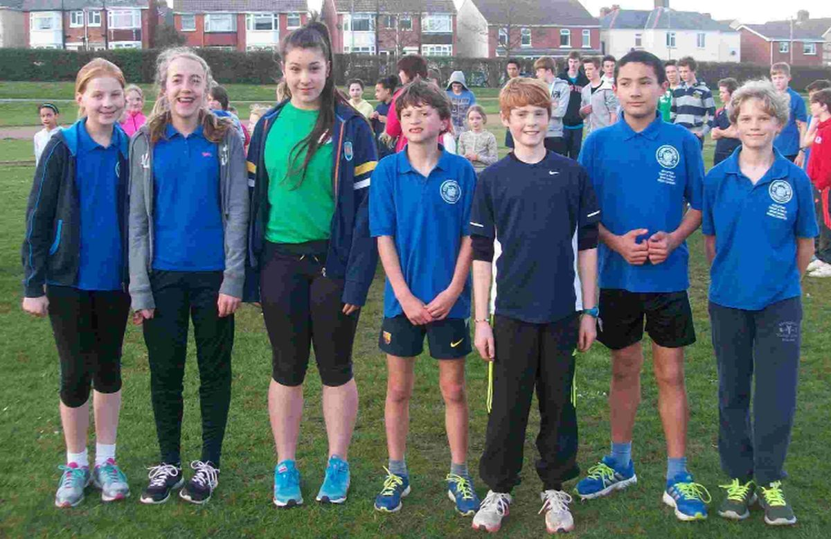 HAPPY HARRIERS: St Paul's Harriers at the Bournemouth Open