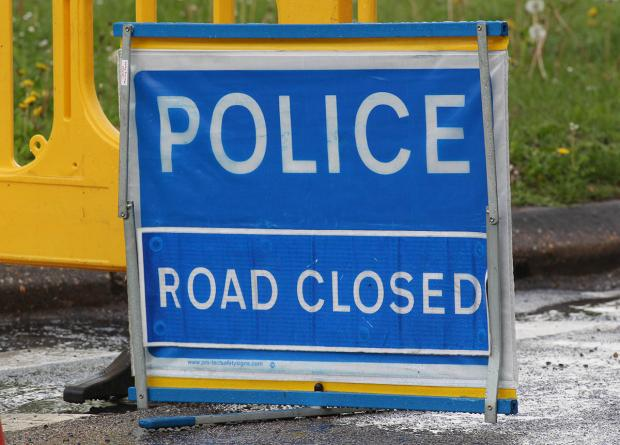 A351 closed both ways at Harmans Cross due to crash
