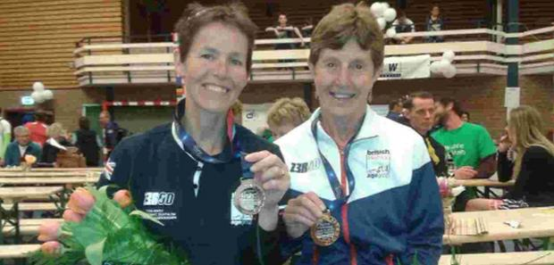 MEDAL WINNERS: Sharon Bardsley and Fran Bungay