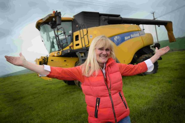 Judi James is driving a combine harvester from Wimbledon Common to Dorchester