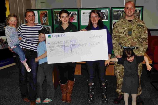 Military Wives' online auction boosts animal rescue centre