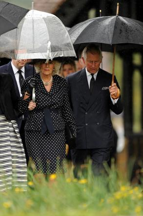 Prince Charles and Camilla attend funeral of Mark Shand in Dorset