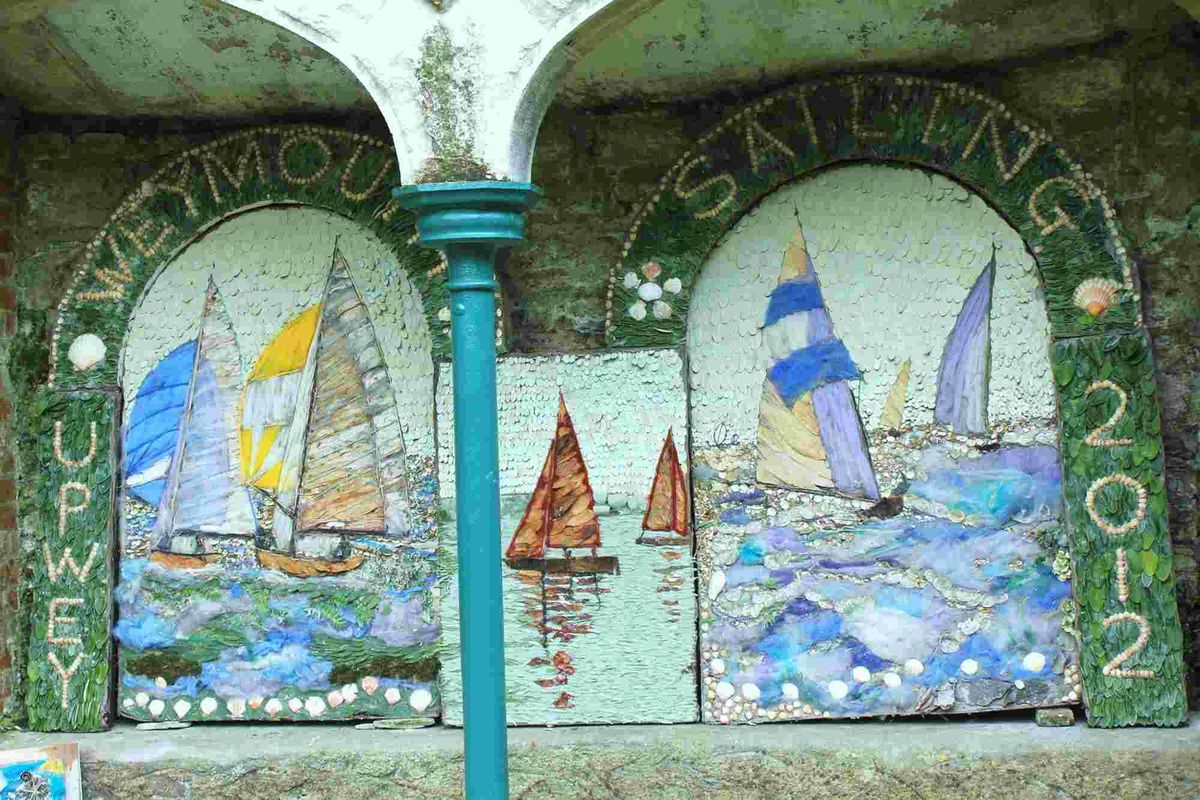 MARITIME THEME: A previous well dressing at Upwey