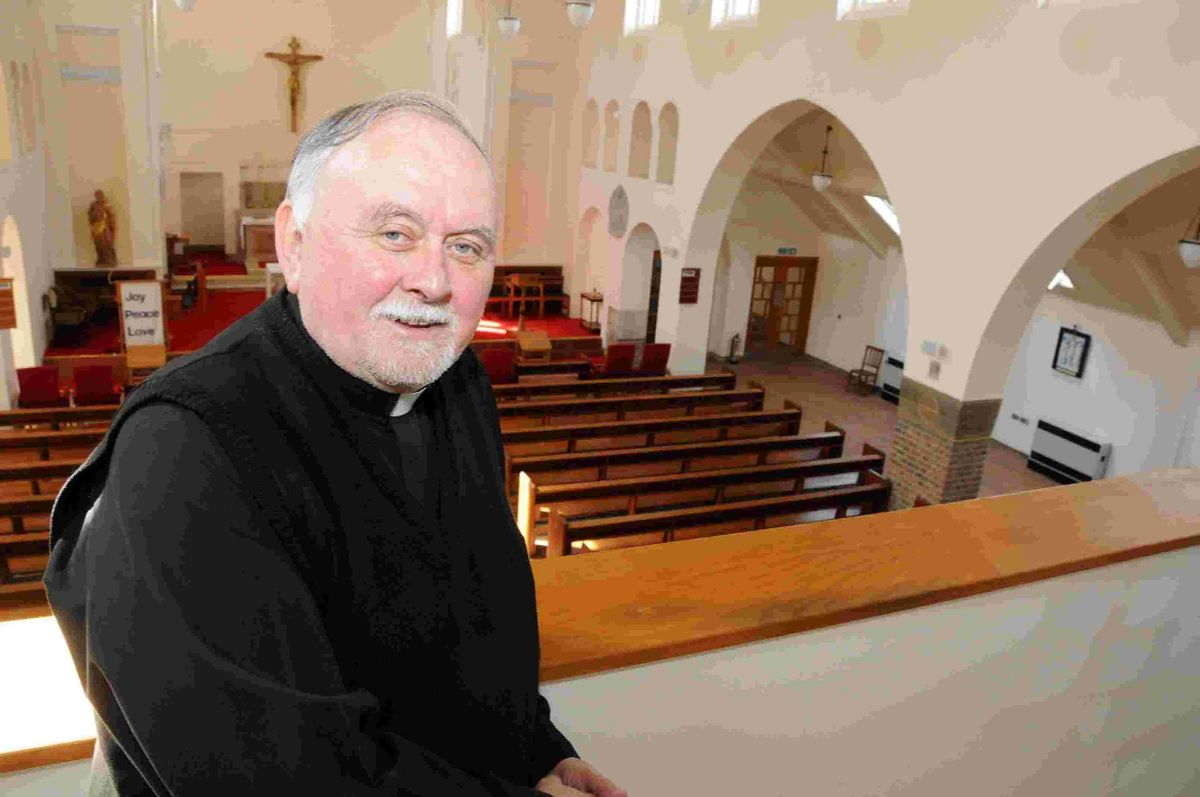 EXCITING PROGRAMME: Father Stephen Geddes at St Joseph's church, Stavordale Road, Weymouth