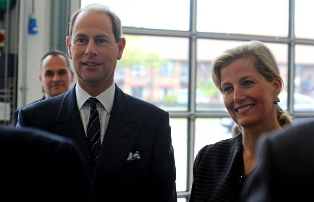 Dorset Echo: The Earl and Countess of Wessex meeting Safewise's trustees
