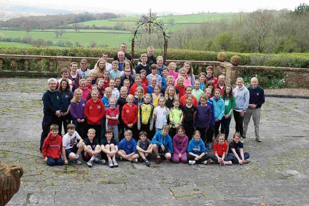 Dorset Echo: EASTER CAMP: Athletes and coaches at Leweston School