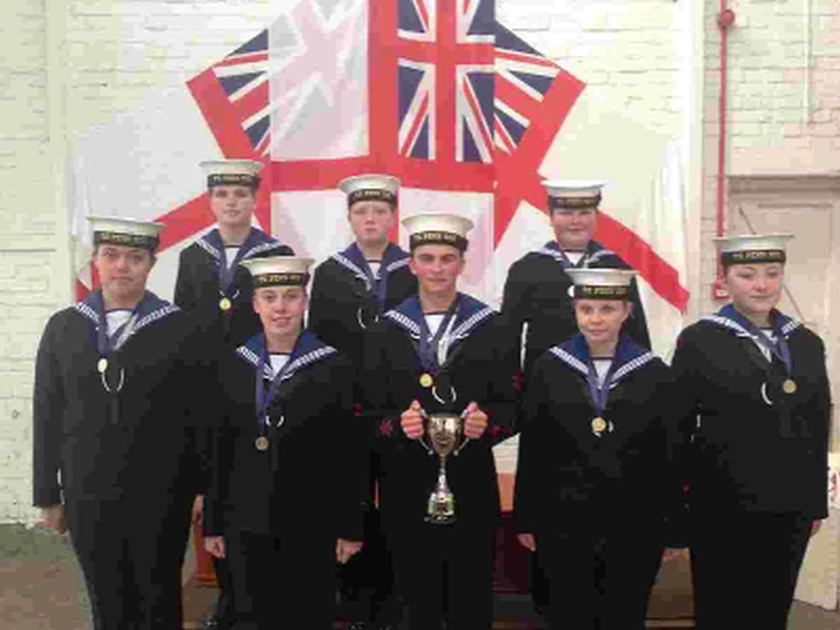 WELL DONE: The Portland Sea Cadets show off their trophy
